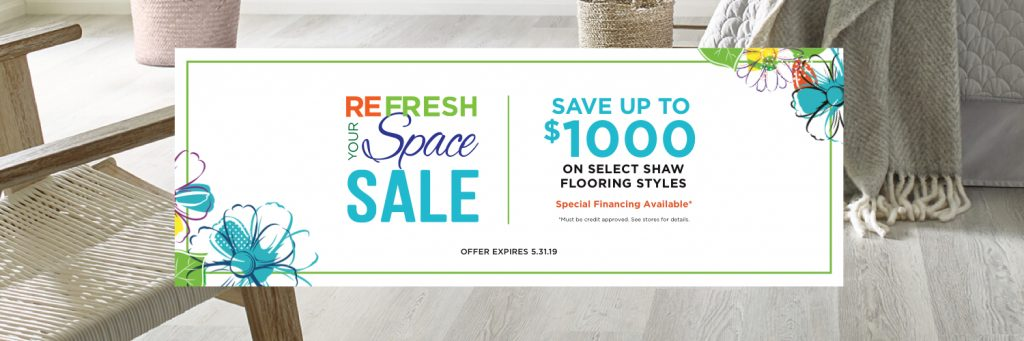 Refresh your space spring sale