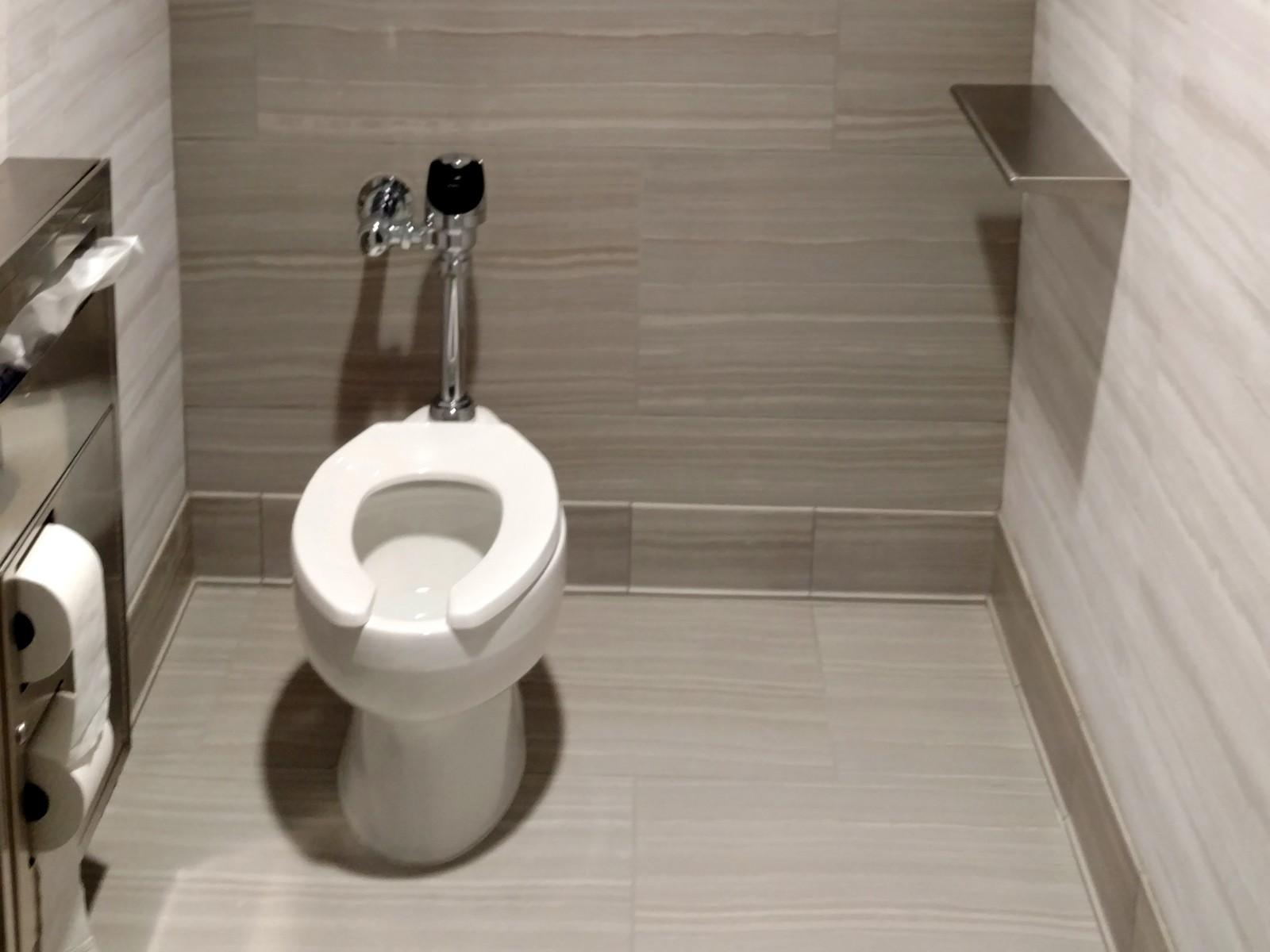 Hilton Garden Inn Springfield washroom | Flooring Installation System