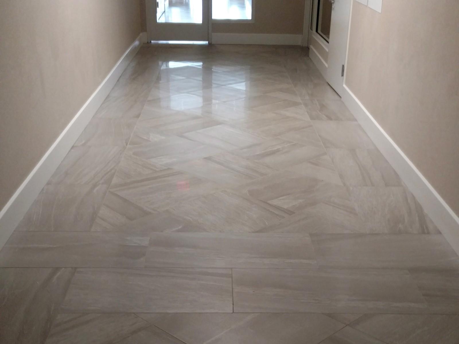 Hilton Garden Inn Springfield tile floor| Flooring Installation System
