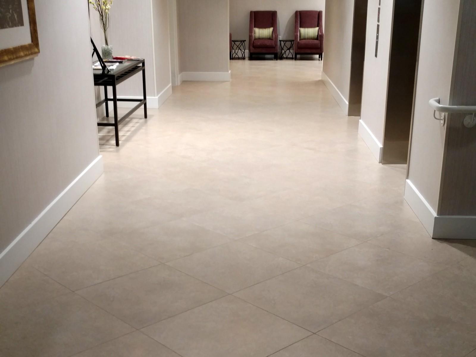 Hilton Garden Inn Springfield tile floor | Flooring Installation System